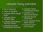 lafayette taxing authorities