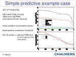 simple predictive example case