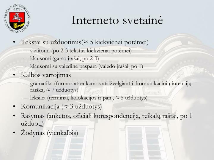 Interneto svetainė