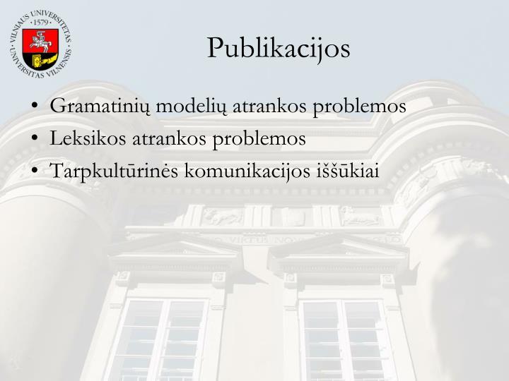 Publikacijos