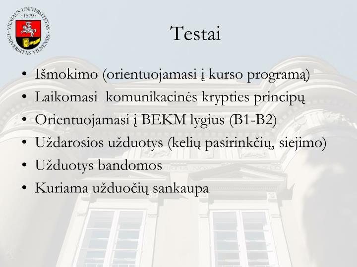 Testai