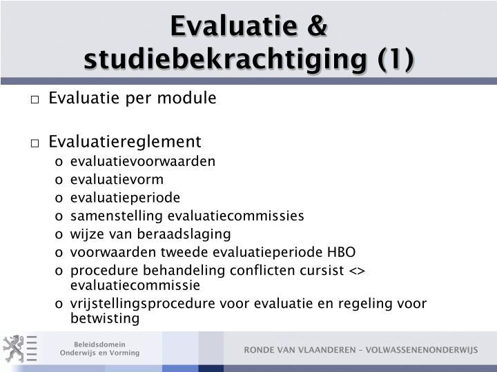 Evaluatie & studiebekrachtiging (1)