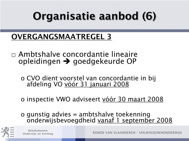 Organisatie aanbod (6)