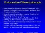 endometriose differentialtherapie