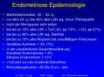 endometriose epidemiologie