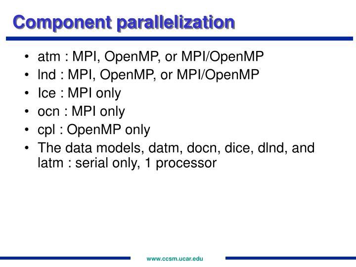 Component parallelization