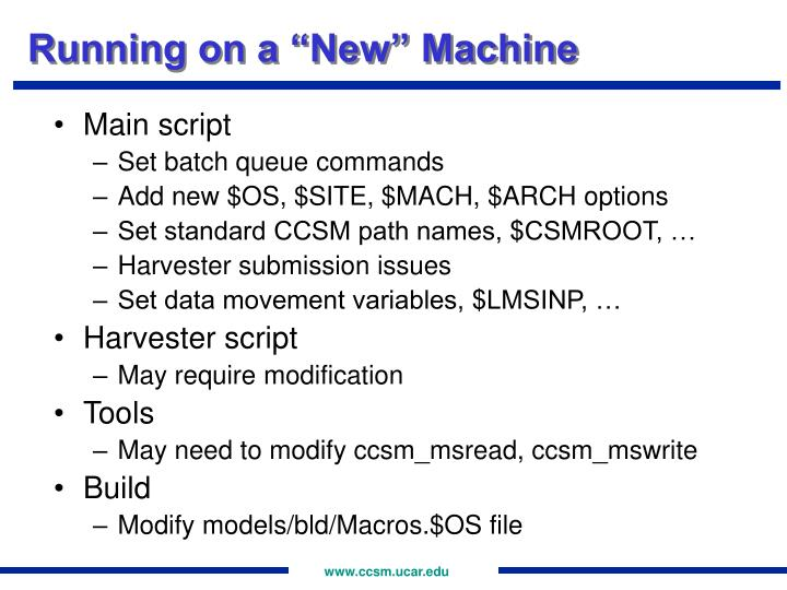 "Running on a ""New"" Machine"