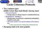 cache coherence protocols