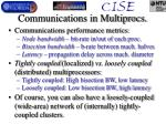 communications in multiprocs