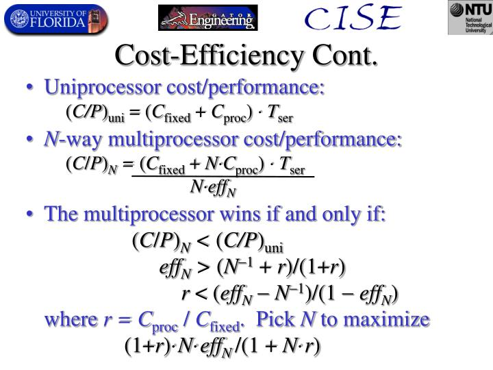 Cost-Efficiency Cont.