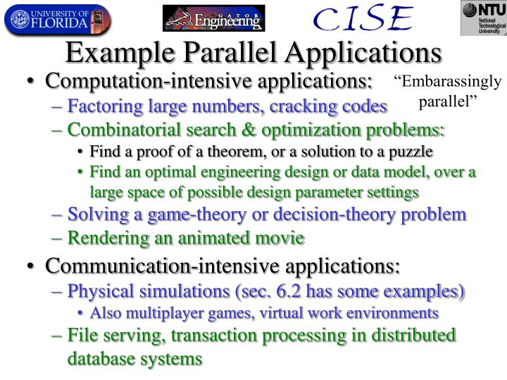 Example Parallel Applications
