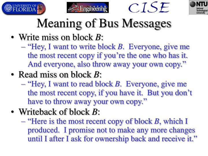 Meaning of Bus Messages