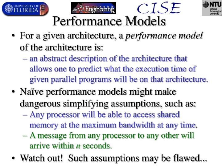 Performance Models