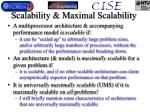 scalability maximal scalability