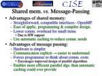 shared mem vs message passing