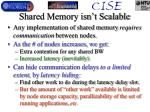 shared memory isn t scalable
