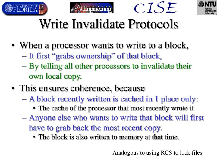 Write Invalidate Protocols