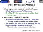 write invalidate protocols