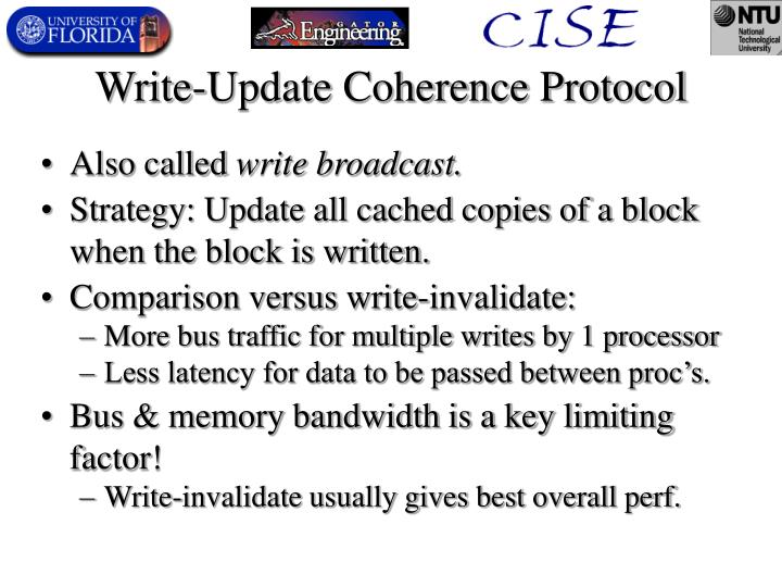Write-Update Coherence Protocol