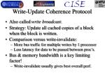 write update coherence protocol