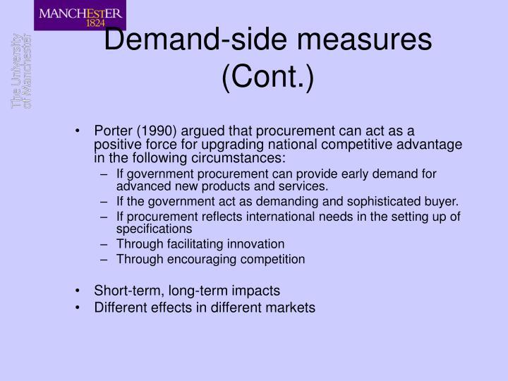 Demand-side measures  (Cont.)