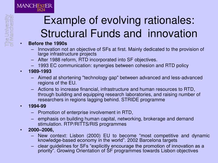 Example of evolving rationales: