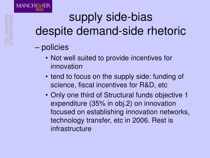 supply side-bias