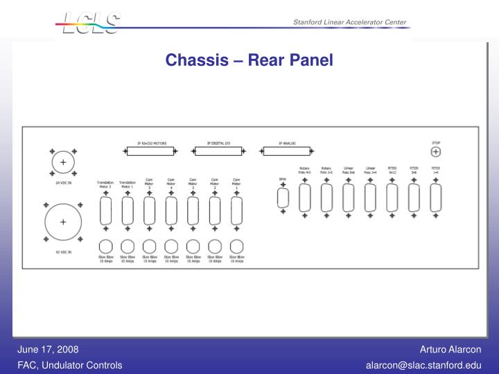 Chassis – Rear Panel