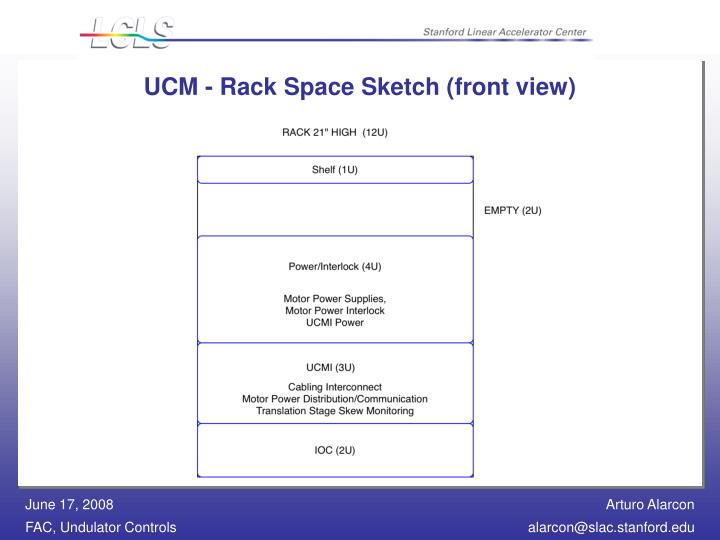 UCM - Rack Space Sketch (front view)