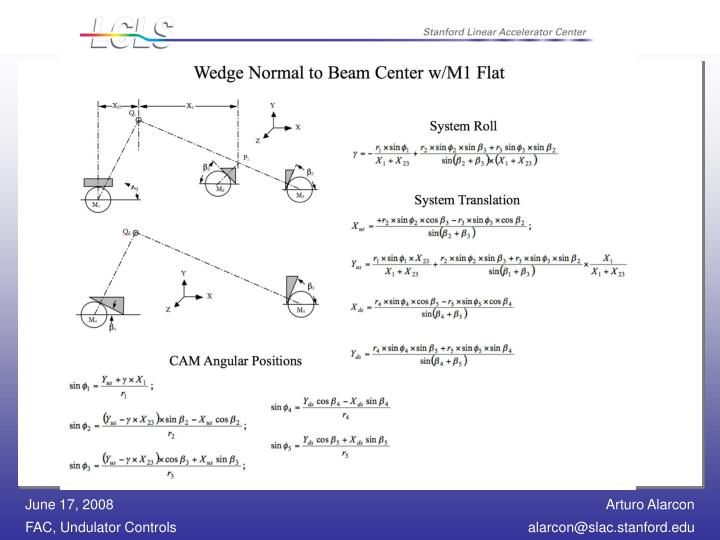 UCM Software - CAM Motion Equations