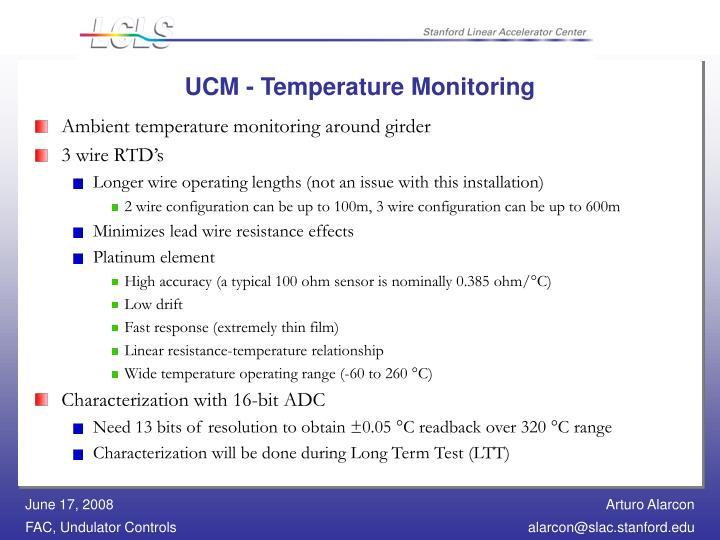 UCM - Temperature Monitoring