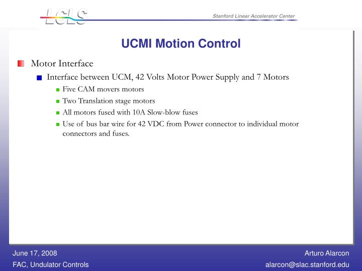 UCMI Motion Control