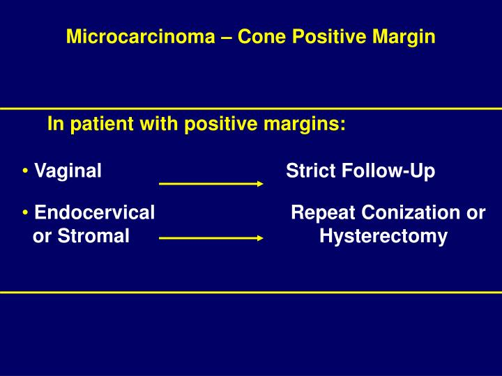 Microcarcinoma – Cone Positive Margin