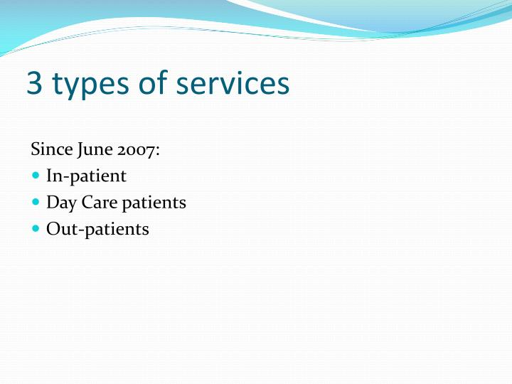 3 types of services