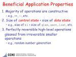 beneficial application properties
