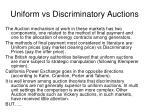 uniform vs discriminatory auctions