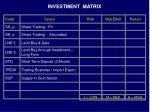 investment matrix