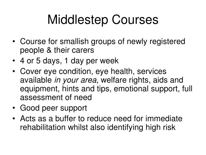 Middlestep Courses