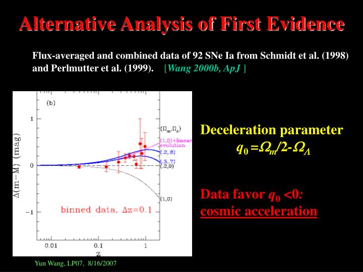 Alternative Analysis of First Evidence