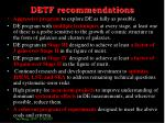 detf recommendations