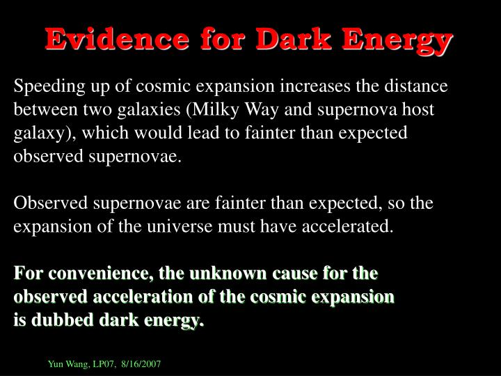 Evidence for Dark Energy