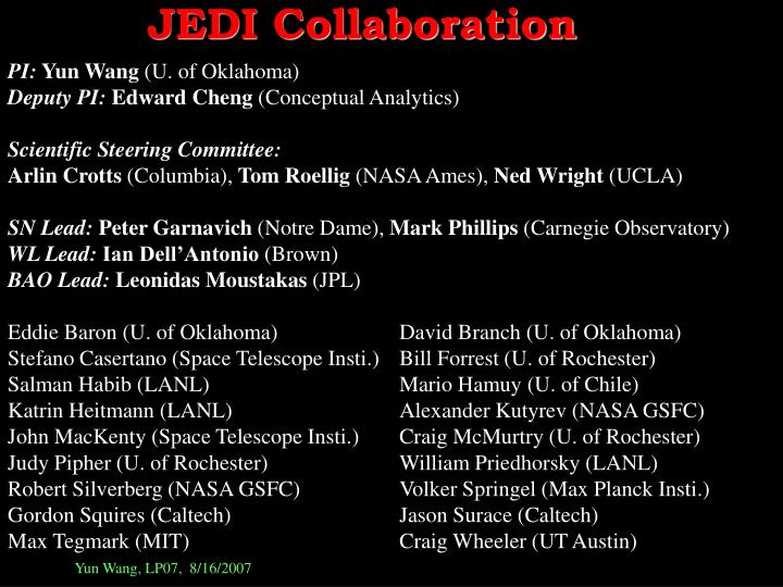 JEDI Collaboration