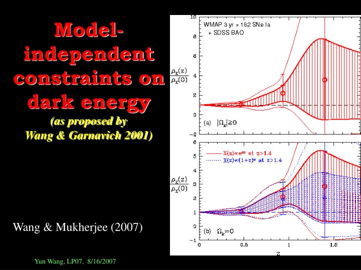 Model-independent constraints on dark energy