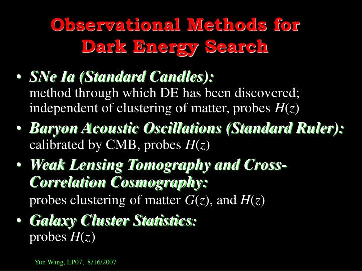 Observational Methods for