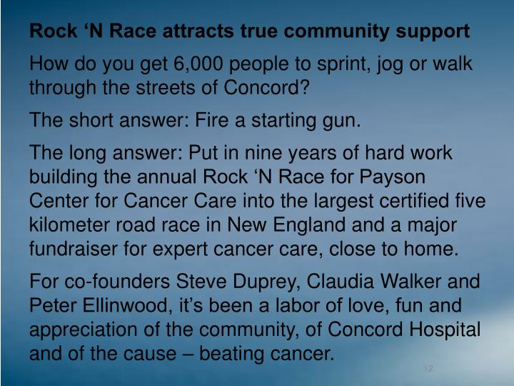 Rock 'N Race attracts true community support