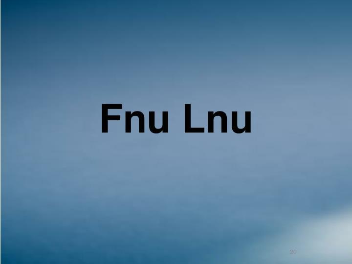Fnu Lnu