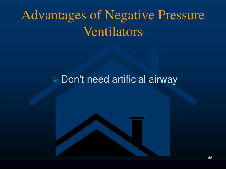 Advantages of Negative Pressure Ventilators