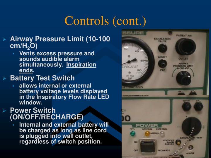 Controls (cont.)
