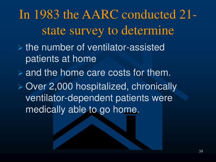 In 1983 the AARC conducted 21-state survey to determine