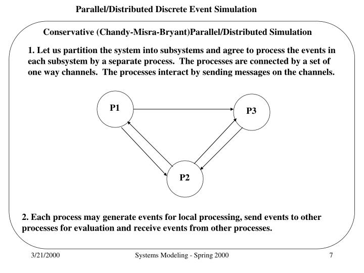 Conservative (Chandy-Misra-Bryant)Parallel/Distributed Simulation